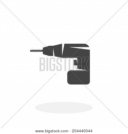 Drill icon isolated on white background. Drill vector logo. Flat design style. Modern vector pictogram for web graphics - stock vector