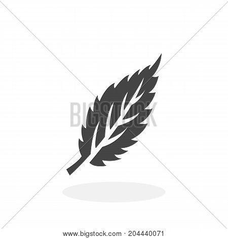 Eco leaf icon isolated on white background. Eco leaf vector logo. Flat design style. Modern vector pictogram for web graphics - stock vector