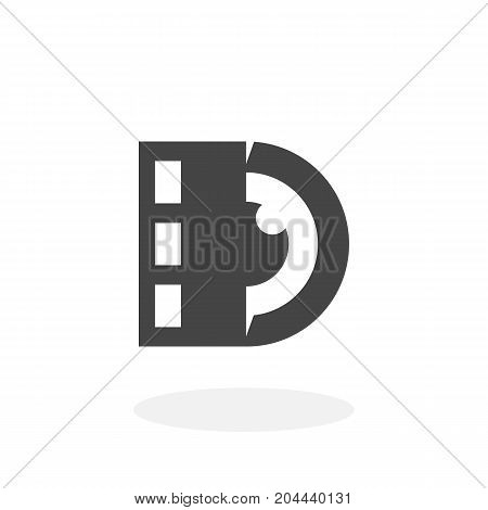 Lens with film logo isolated on white background. Lens with film vector icon. Flat design style. Modern vector pictogram for web graphics - stock vector