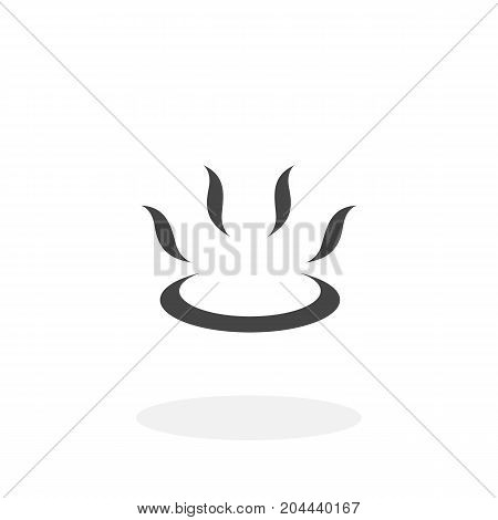 Gas burner icon isolated on white background. Gas burner vector logo. Flat design style. Modern vector pictogram for web graphics - stock vector