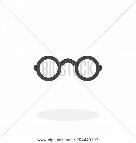 Glasses icon isolated on white background. Glasses vector logo. Flat design style. Modern vector pictogram for web graphics - stock vector