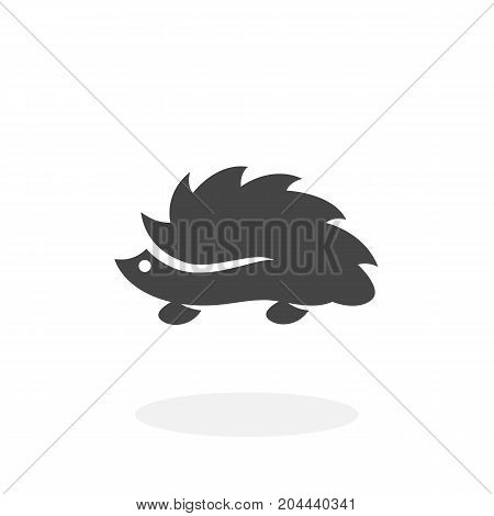 Hedgehog icon isolated on white background. Hedgehog vector logo. Flat design style. Modern vector pictogram for web graphics - stock vector