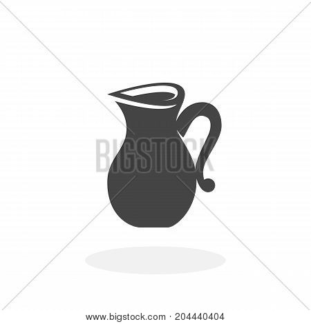 Jug icon isolated on white background. Jug vector logo. Flat design style. Modern vector pictogram for web graphics - stock vector