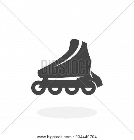 Roller skate icon isolated on white background. Roller skate vector logo. Flat design style. Modern vector pictogram for web graphics - stock vector
