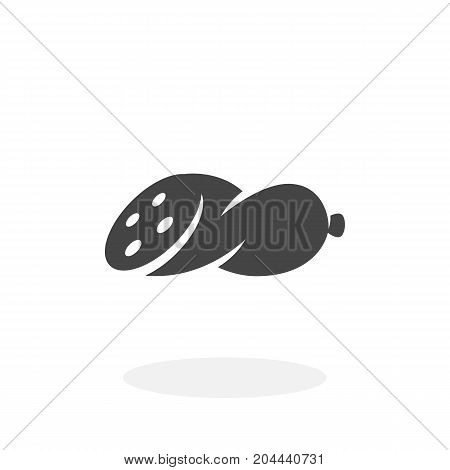 Sausage icon isolated on white background. Sausage vector logo. Flat design style. Modern vector pictogram for web graphics - stock vector
