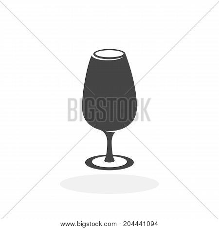 Wine in the glass icon isolated on white background. Wineglass vector logo. Flat design style. Modern vector pictogram for web graphics - stock vector