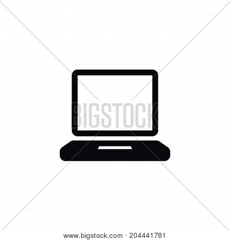 Computerized Vector Element Can Be Used For Display, Computerized, Laptop Design Concept.  Isolated Display Icon.