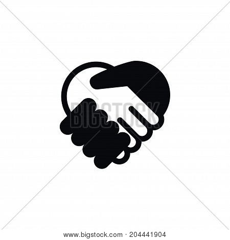 Handshake Vector Element Can Be Used For Handshake, Meeting, Friendship Design Concept.  Isolated Meeting Icon.