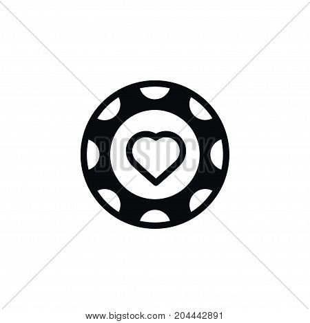 Currency Vector Element Can Be Used For Currency, Hearts, Chips Design Concept.  Isolated Hearts Icon.