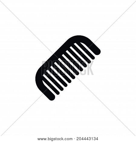 Hairbrush Vector Element Can Be Used For Hairbrush, Barber, Tool Design Concept.  Isolated Barber Tool Icon.