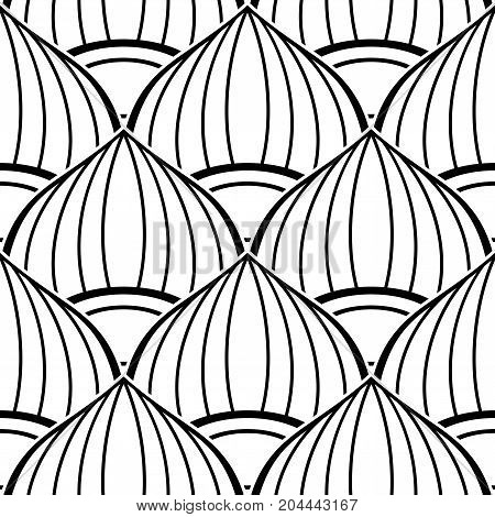 Black And White Seamless Pattern With Ethnic Motifs