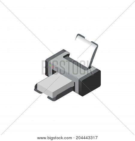 Printing Machine Vector Element Can Be Used For Printer, Printing, Machine Design Concept.  Isolated Printer Isometric.