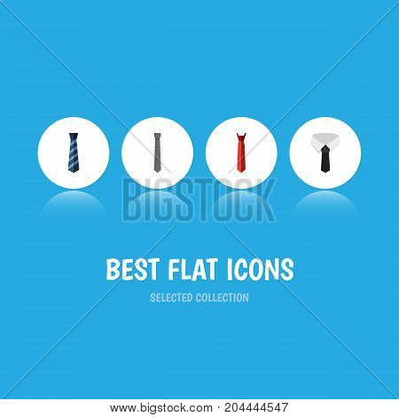 Flat Icon Clothing Set Of Cravat, Style, Textile And Other Vector Objects