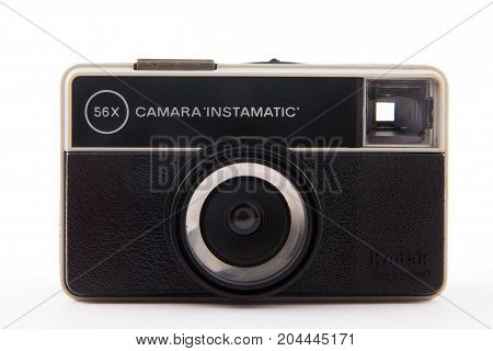 Bogota, Colombia - September 2017. Old Viewfinder Analog Camera From 1970S