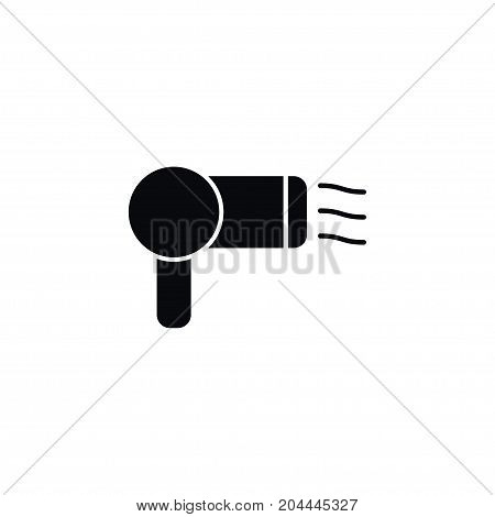 Hairdresser Vector Element Can Be Used For Drying, Hairdresser, Air Design Concept.  Isolated Drying Icon.