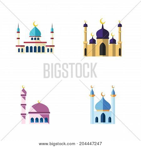 Flat Icon Mosque Set Of Building, Mosque, Islam And Other Vector Objects
