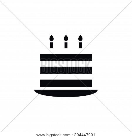 Birthday Vector Element Can Be Used For Birthday, Pastry, Cake Design Concept.  Isolated Pastry Icon.