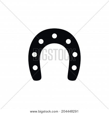 Shoe  Vector Element Can Be Used For Shoe, Horseshoe, Metal Design Concept.  Isolated Horseshoe Icon.