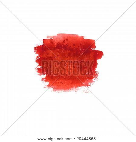 Abstract Blood Red Stain