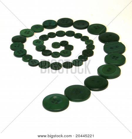 Green Button Spiral