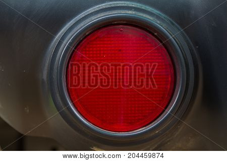 Close up Taillight of car background and texture