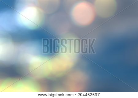 blurry abstract background of sky with bokeh effect