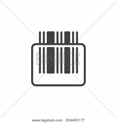 Barcode scanner icon vector, filled flat sign, solid pictogram isolated on white. Symbol, logo illustration. Pixel perfect vector graphics