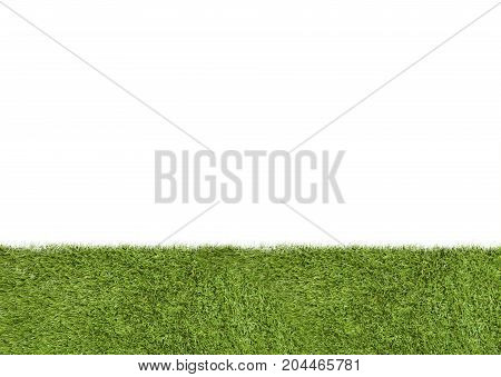 Lawn or grass lower third on white background
