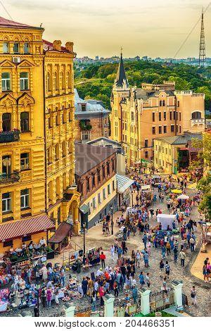 Kiev or Kiyv, Ukraine: the city center in the summer
