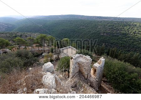The fortress of Yehiam -  the castle of the Crusader era, belonged to the Order of the Teutonic Knights
