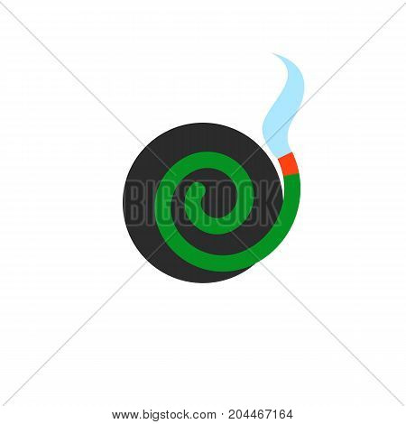 Icon of mosquito repellent coil. Spiral, aroma, killing incest. Mosquito prevent concept. Can be used for topics like protection, solution, repellent