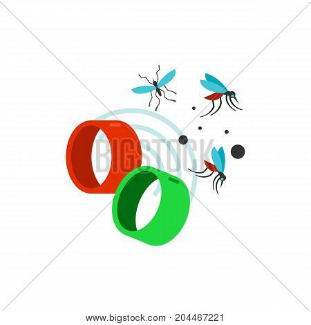 Icon of mosquito repelling bracelets. Insect, protection, accessory. Mosquito prevent concept. Can be used for topics like solution, safety, innovation