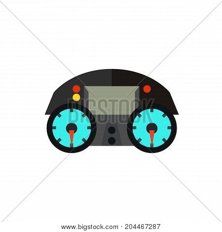 Icon of motorcycle dashboard. Gauges, speedometer, display. Racing motorbike concept. Can be used for topics like speed,  users interface, information