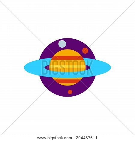 Icon of planet Saturn. Orbit, planetarium, science. Cosmos concept. Can be used for topics like universe, astronomy, astrology
