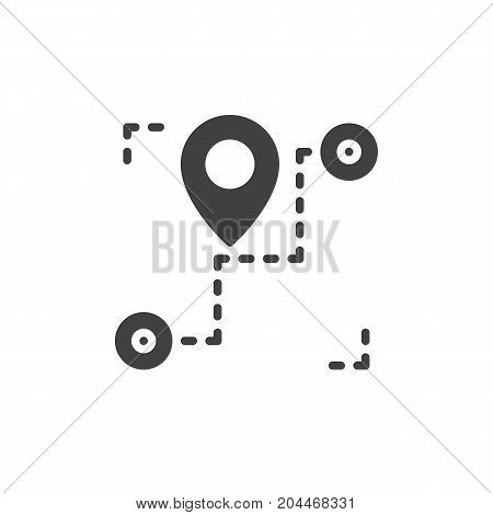 Track order icon vector, filled flat sign, solid pictogram isolated on white. Shipment tracking symbol, logo illustration. Pixel perfect vector graphics