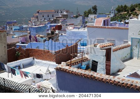 Blue City Of Chefchaouen In Northern Morocco.