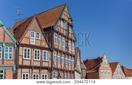Half Timbered Houses At The Historical Harbor Of Stade