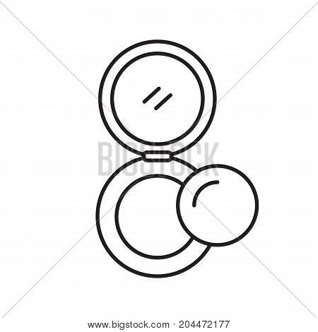 Powder linear icon. Thin line illustration. Rouge. Contour symbol. Vector isolated outline drawing