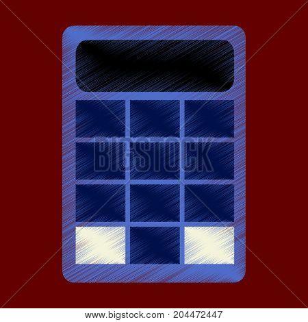 flat shading style icon economy calculator mathematical