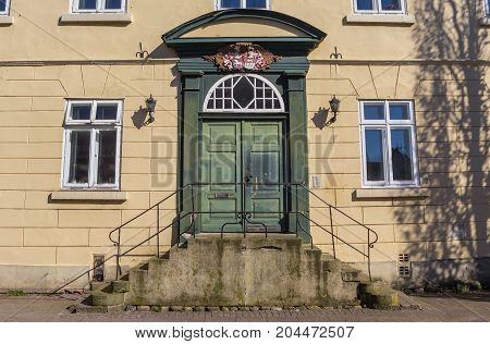 Entrance To An Old House In The Historical Center Of Verden