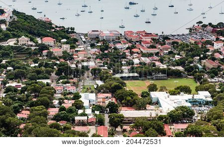City of Charlotte Amalie St Thomas from Above