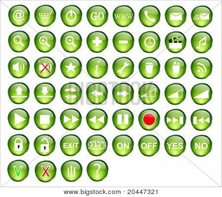 Web button green pack