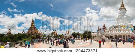 PHETCHABOON THAILAND - AUG 12: Many tourists visit