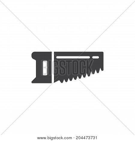 Saw icon vector, filled flat sign, solid pictogram isolated on white. Symbol, logo illustration
