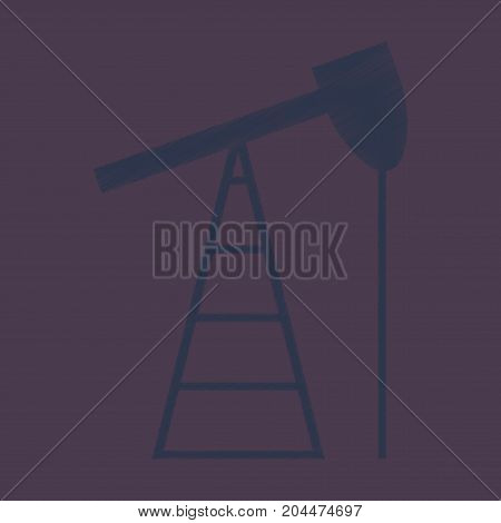 flat shading style icon gas production construction