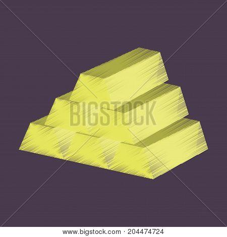 flat shading style icon Gold bars banking