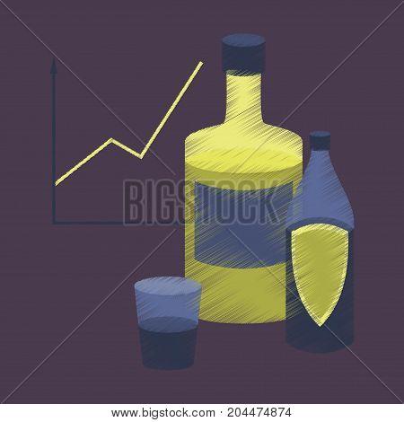 flat shading style icon Alcohol Infographic information