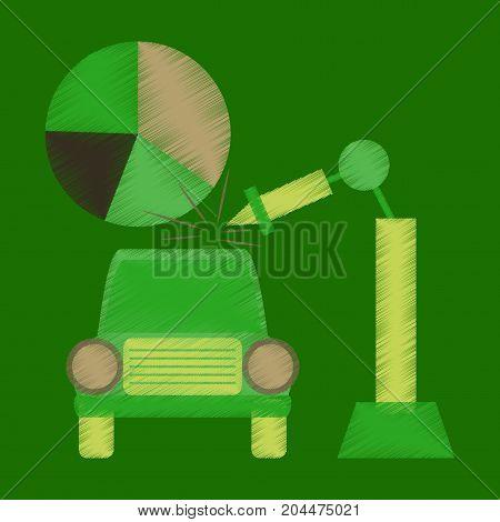 flat shading style icon Automotive industry economy