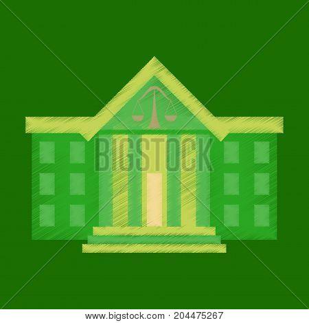 flat shading style icon courthouse economy architectural