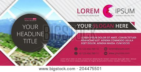 Business Flyer Design  Horizontal Template With Blur Background And Place For Your Text